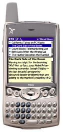 Treo 600 with Hand/RSS News Feed Reader